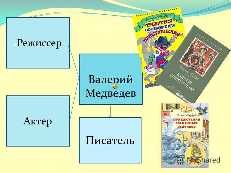 Валерий Медведев е Режиссер Актер Писатель
