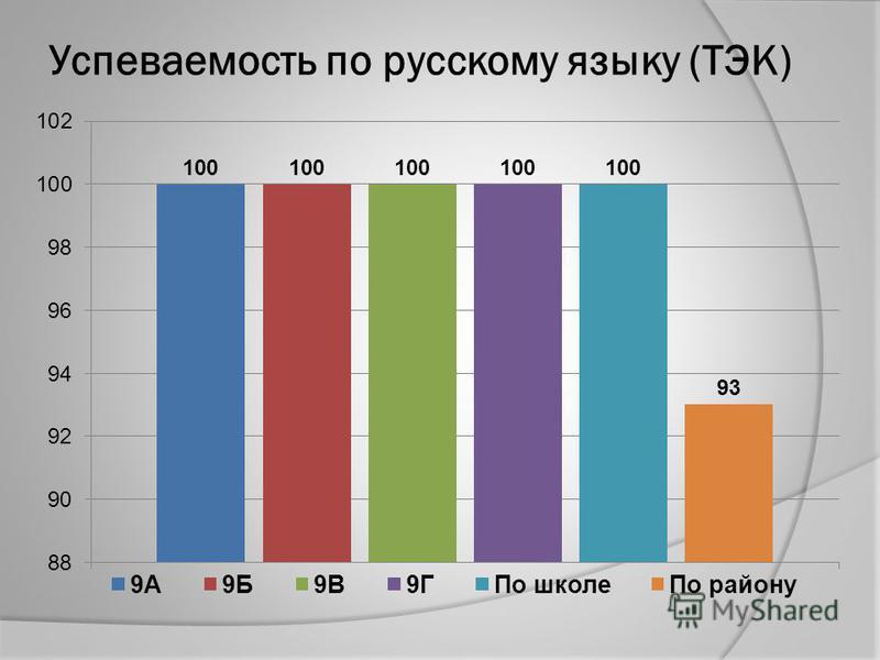 Успеваемость по русскому языку (ТЭК)