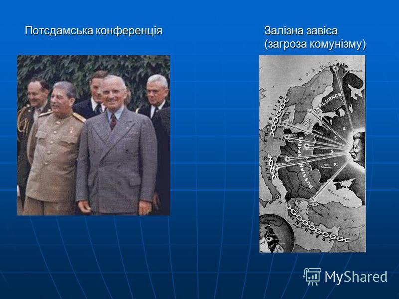Потсдамська конференціяЗалізна завіса (загроза комунізму)