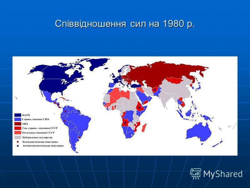 Співвідношення сил на 1980 р.