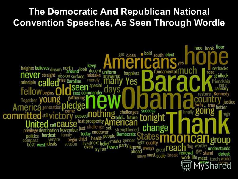 The Democratic And Republican National Convention Speeches, As Seen Through Wordle