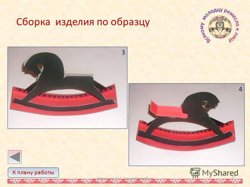 Сборка изделия по образцу Левитина Л. С. Санкт-Петербург 17 К плану работы 4 3
