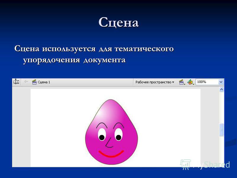 Сцена Сцена используется для тематического упорядочения документа