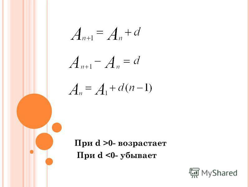 При d >0- возрастает При d <0- убывает