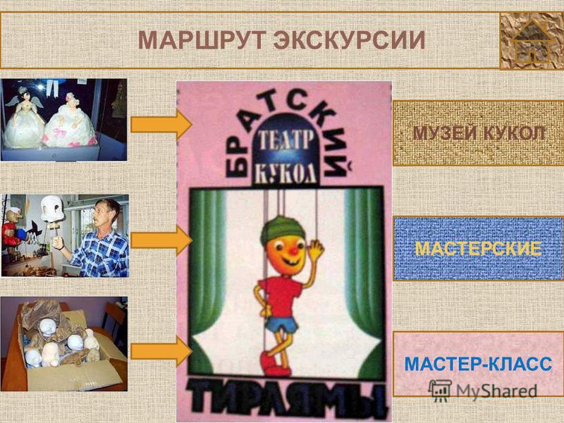 МАРШРУТ ЭКСКУРСИИ МУЗЕЙ КУКОЛ МАСТЕРСКИЕ МАСТЕР-КЛАСС