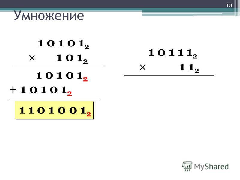 Умножение 1 0 1 0 1 2 1 0 1 2 1 0 1 0 1 2 + 1 0 1 0 1 2 1 1 0 1 0 0 1 2 1 0 1 1 1 2 1 1 2 10