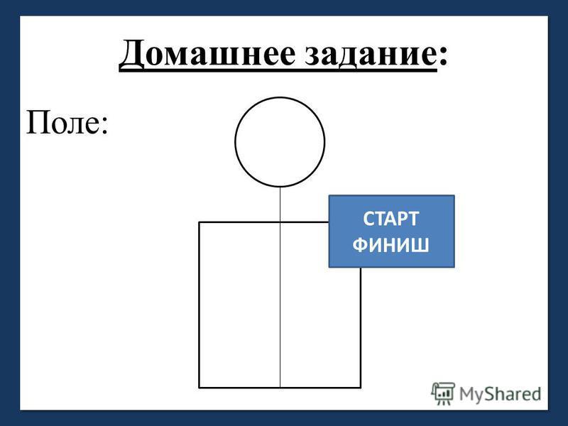 Домашнее задание: Поле: СТАРТ ФИНИШ