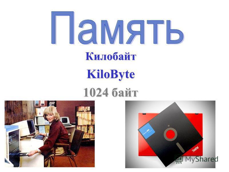 КилобайтKiloByte 1024 байт