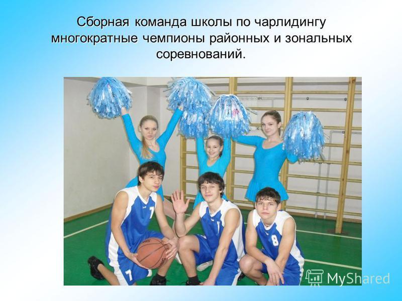 Сборная команда школы по чарлидингу многократные чемпионы районных и зональных соревнований.