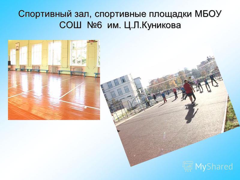 Спортивный зал, спортивные площадки МБОУ СОШ 6 им. Ц.Л.Куникова