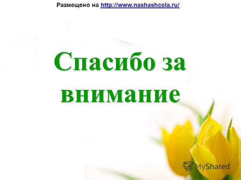 Спасибо за внимание Размещено на http://www.nashashcola.ru/http://www.nashashcola.ru/