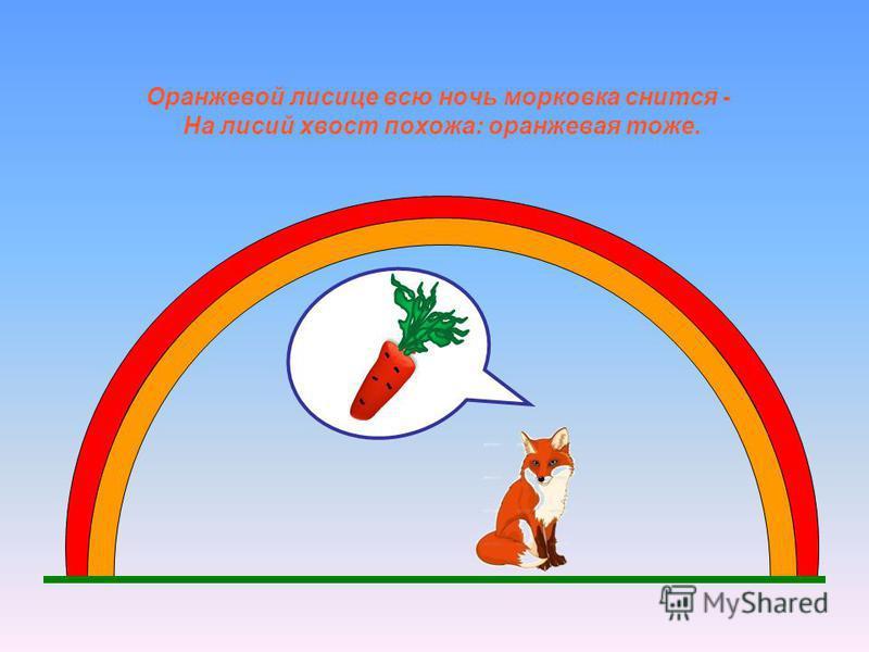 Оранжевой лисице всю ночь морковка снится - На лисий хвост похожа: оранжевая тоже.