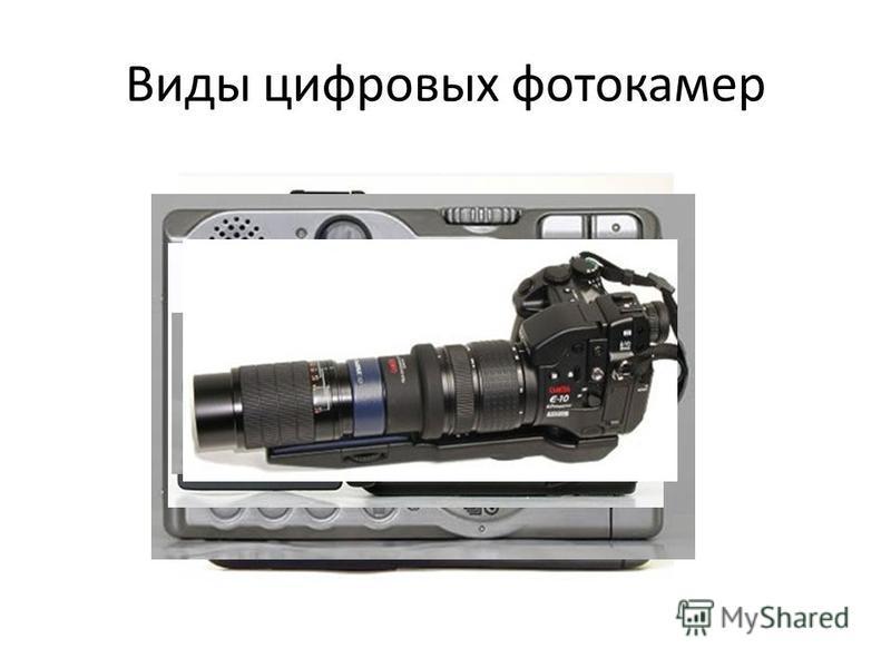 Виды цифровых фотокамер