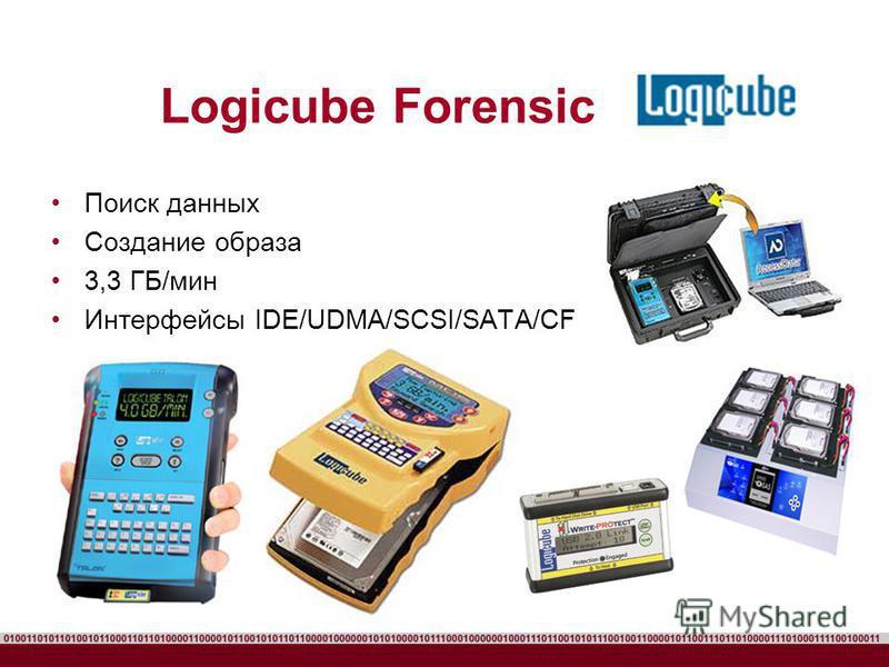Logicube Forensic Поиск данных Создание образа 3,3 ГБ/мин Интерфейсы IDE/UDMA/SCSI/SATA/CF
