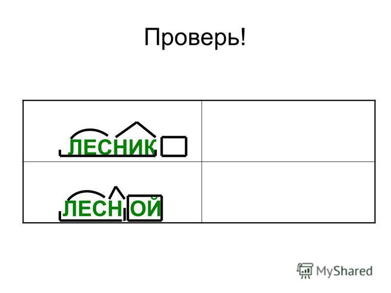 Проверь! ЛЕСНИК ЛЕСН ОЙ
