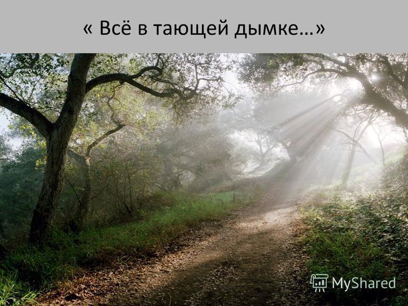 « Всё в тающей дымке…»