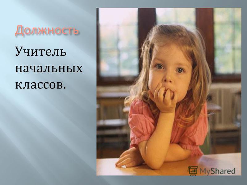 Должность Учитель начальных классов.