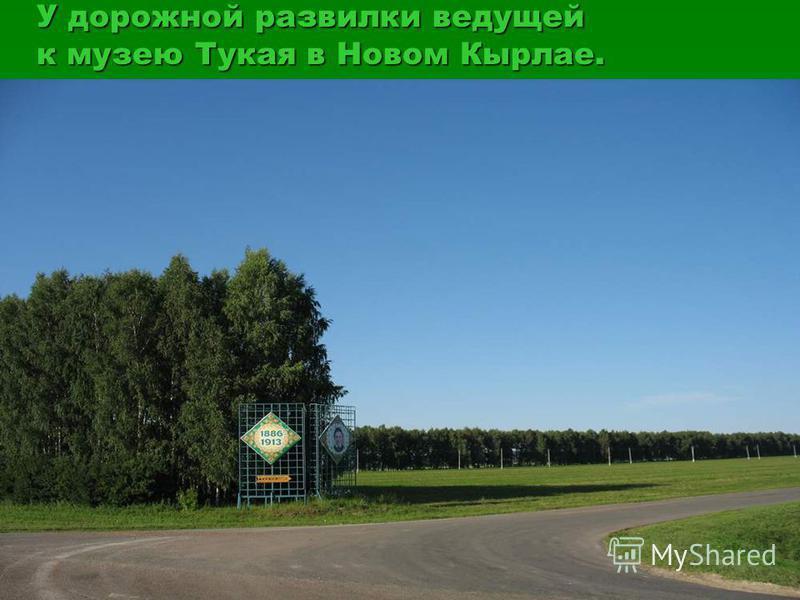 У дорожной развилки ведущей к музею Тукая в Новом Кырлае.