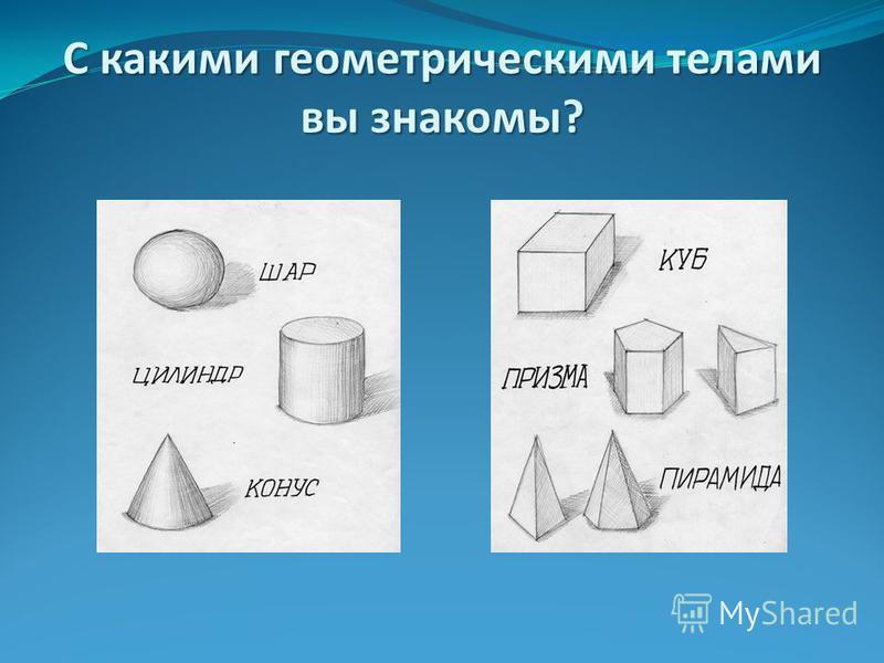 С какими геометрическими телами вы знакомы?
