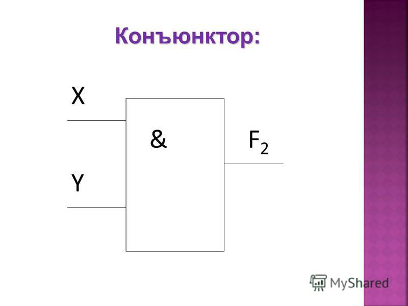 Конъюнктор: & X F2F2 Y