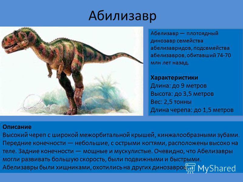 Динозавры Крошечкин Егор Ученик 1 «а» класса Лицей 4