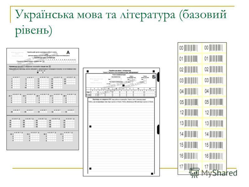 Українська мова та література (базовий рівень)