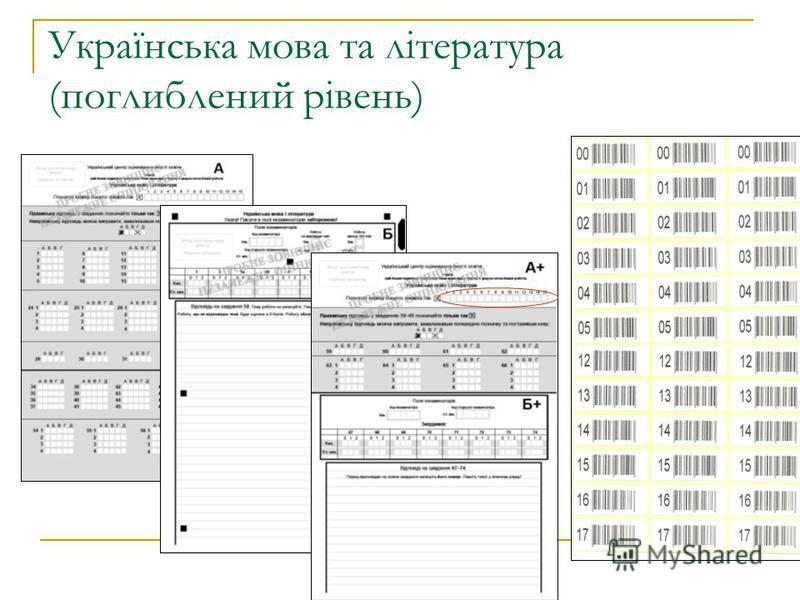 Українська мова та література (поглиблений рівень)