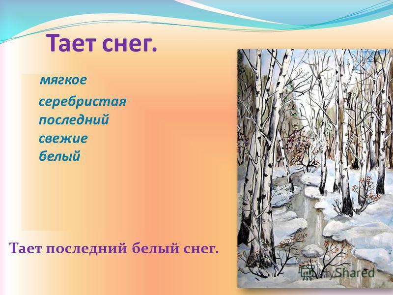 Тает снег. мягкое серебристая последний свежие белый Тает последний белый снег.