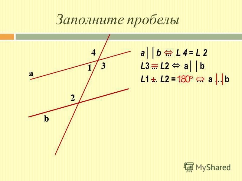 Заполните пробелы 1 2 3 4 a b ab... L 4 = L 2 L 3... L 2 ab L 1... L 2 = … … a … b