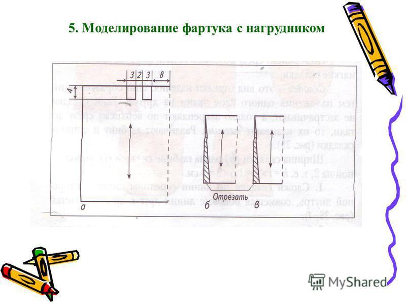 5. Моделирование фартука с нагрудником