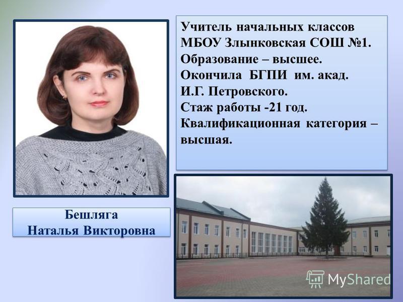 Бешляга Наталья Викторовна Бешляга Наталья Викторовна
