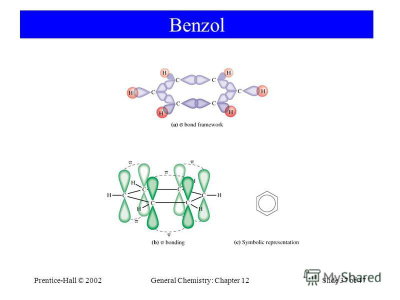 Prentice-Hall © 2002General Chemistry: Chapter 12Slide 37 of 47 Benzol