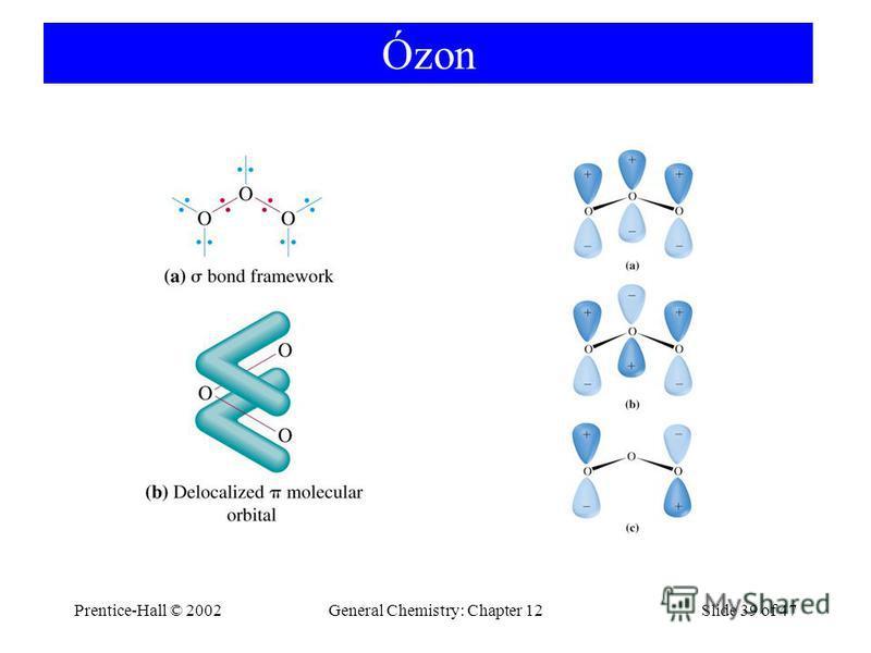 Prentice-Hall © 2002General Chemistry: Chapter 12Slide 39 of 47 Ózon