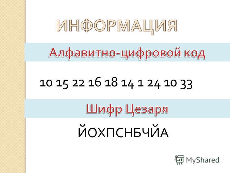 10 15 22 16 18 14 1 24 10 33 ЙОХПСНБЧЙА