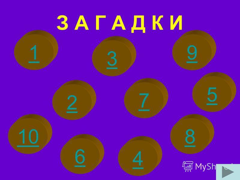 З А Г А Д К И 2 6 3 1 10 5 4 7 8 9