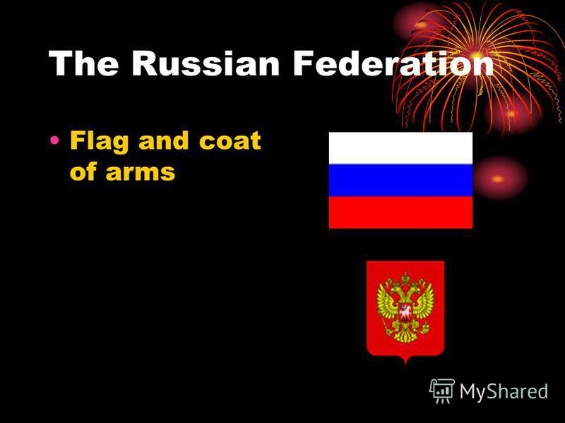 The Russian Federation Flag and coat of arms
