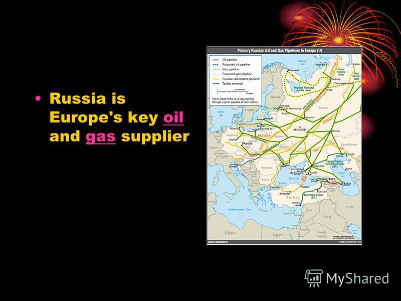 Russia is Europe's key oil and gas supplieroilgas