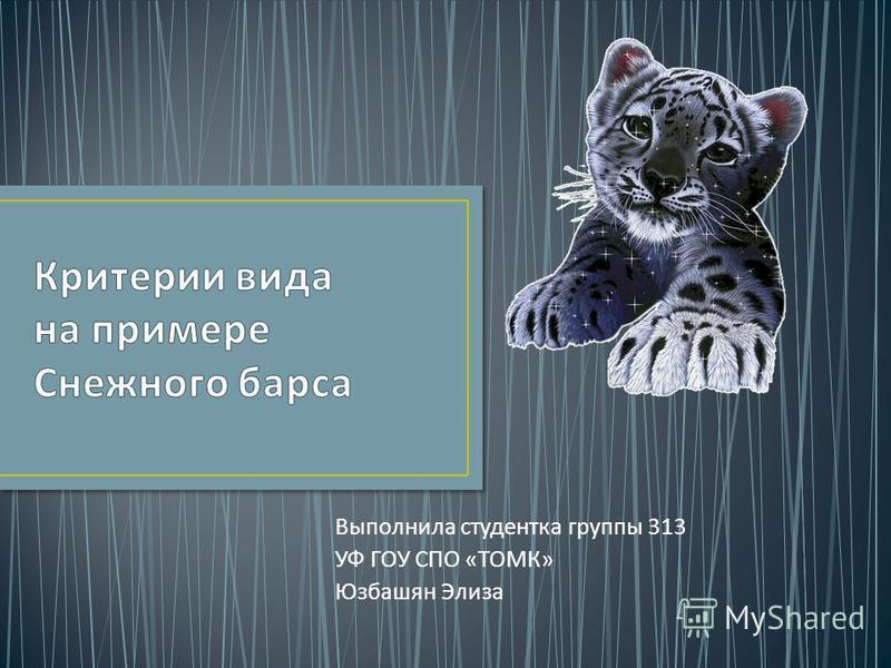 Выполнила студентка группы 313 УФ ГОУ СПО « ТОМК » Юзбашян Элиза