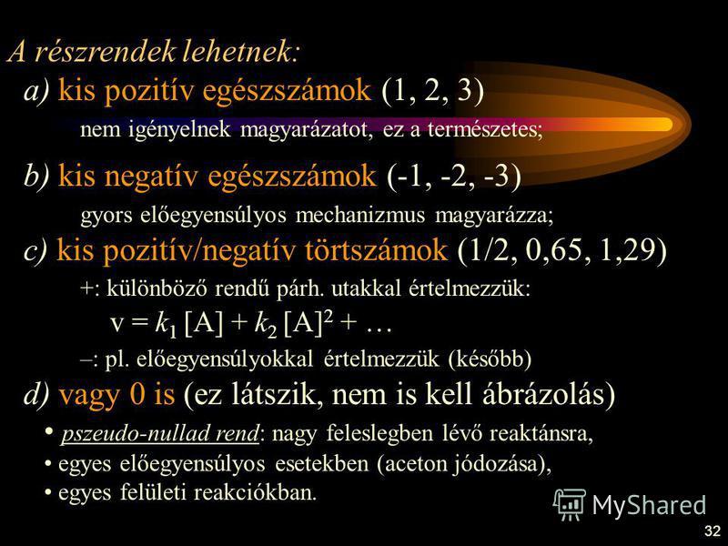 32 A részrendek lehetnek: a) kis pozitív egészszámok (1, 2, 3) nem igényelnek magyarázatot, ez a természetes; b) kis negatív egészszámok (-1, -2, -3) gyors előegyensúlyos mechanizmus magyarázza; c) kis pozitív/negatív törtszámok (1/2, 0,65, 1,29) +: