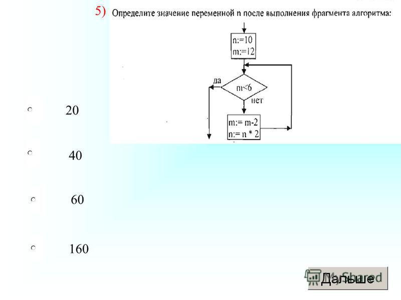 160 40 60 20 Вопрос 5 5)