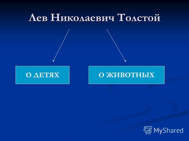 Лев Николаевич Толстой О ДЕТЯХО ЖИВОТНЫХ