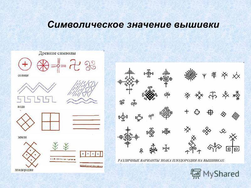 Значение символов в вышивке крестом 74
