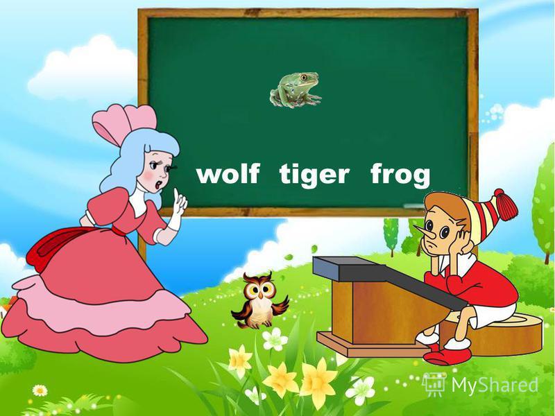 frog wolf fox