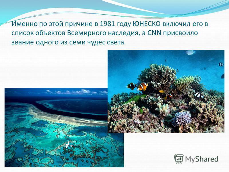 Именно по этой причине в 1981 году ЮНЕСКО включил его в список объектов Всемирного наследия, а CNN присвоило звание одного из семи чудес света.