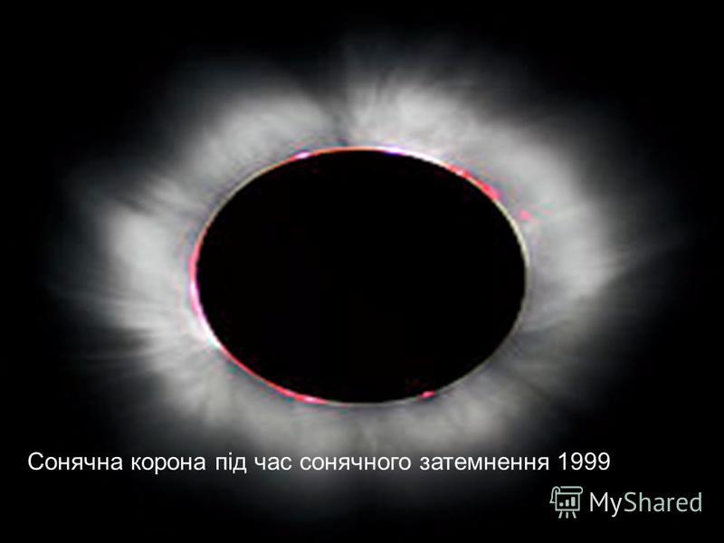 Сонячна корона під час сонячного затемнення 1999
