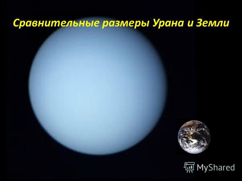 Сравнительные размеры Урана и Земли
