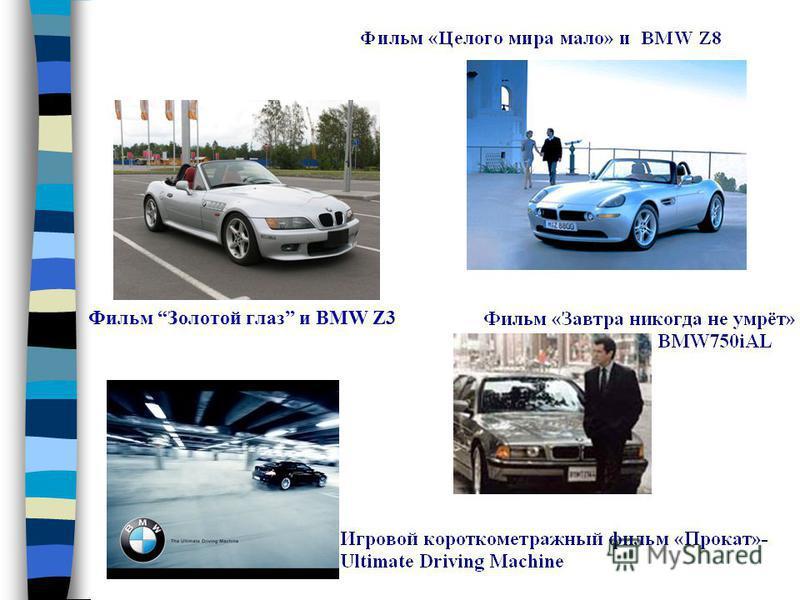 Фильм Золотой глаз и BMW Z3