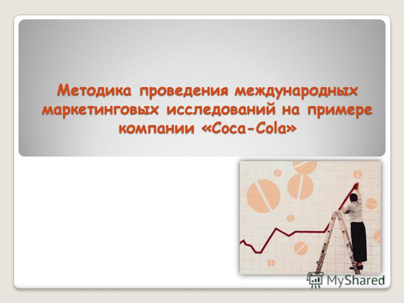 Методика проведения международных маркетинговых исследований на примере компании «Coca-Cola» 1