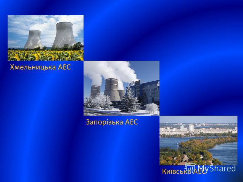Хмельницька АЕС Запорізька АЕС Київська АЕС