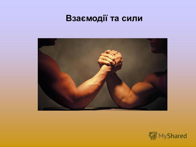 Взаємодії та сили